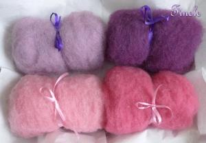 Märchenwolle, kardierte Schafwolle, Filzwolle, Wolle