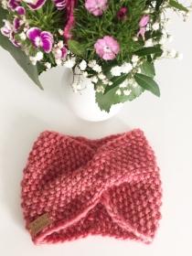 HERMIA - gestricktes Stirnband im wundervollen Rosé-Ton - Handarbeit kaufen