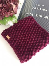 Mega weicher Loop-Schal in der Trendfarbe weinrot ♥ 100 % Wolle - Handarbeit kaufen