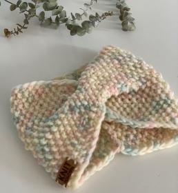 HERMIA - gestricktes Stirnband in wundervollen Pastelltönen - Handarbeit kaufen