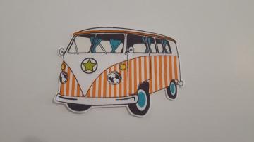 Bügelbild Baumwolle Bulli T1 Bus Auto (Kopie id: 49561)