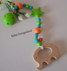♥ Beisskette, Spielkette,Elefant Geschenk zur Geburt, Taufe, Babyparty ♥
