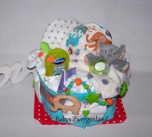 Windeltorte, Elefant Geschenk zur Geburt, Taufe, Babyparty