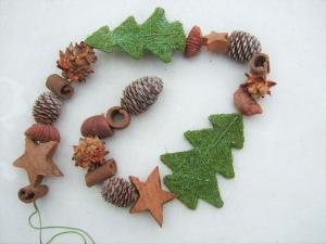 Girlande Weihnachten Naturmaterial Sisaltanne