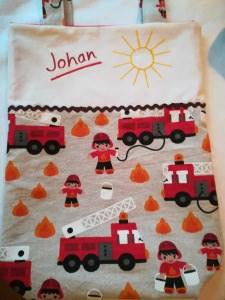 Kita-Tasche mit Namen, Kindergarten Beutel      Feuerwehr