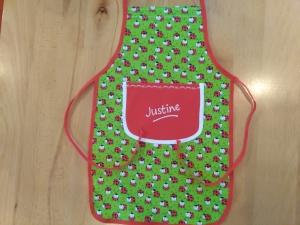 Kochschürze, Backschürze für Kinder, individuell mit Namen, Kinderschürze  lustige Marienkäfer