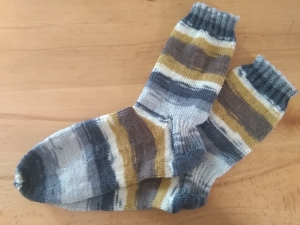 Socken handgestrickt, Papa Socken Größe 45/46