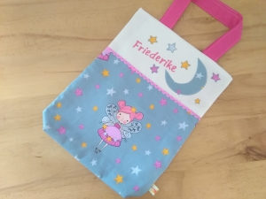 Kita-Tasche mit Namen, Kindergarten Beutel  Fee Prinzessin