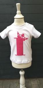 Geburtstagsshirt Mädchen mit Zahl und Krönchen☆Größe und Farbe individualisierbar☆1 bis 5 Jahre☆Bio☆Shirt mit Zahl  - Handarbeit kaufen