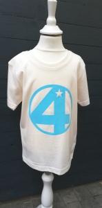 Geburtstagsshirt 4☆Shirt vierter Geburtstag☆Größe und Farbe individualisierbar☆1 bis 5 Jahre☆Bio☆Shirt mit Zahl☆Name möglich - Handarbeit kaufen