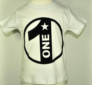 Geburtstagsshirt 1☆Shirt erster Geburtstag☆Größe und Farbe individualisierbar☆1 bis 5 Jahre☆Bio☆Shirt mit Zahl ☆Name möglich - Handarbeit kaufen