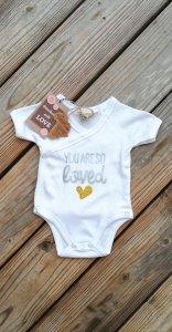 Bio Baby Body ♥Geschenk zu Geburt oder Taufe♥Wickelbody Gr.50/56♥ - Handarbeit kaufen