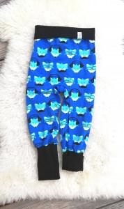 Hose Kinde coole Füchse♥Pumphose aus Jersey Größe 92/98♥ handgenähte Hose blau Fuchs✄Mitwachsbündchen - Handarbeit kaufen