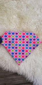 Baby Halstuch☆Baby Sabberlätzchen✂Dreieckstuch mit Druckknopf☆Jersey rosa Punkte✂handgenäht  - Handarbeit kaufen