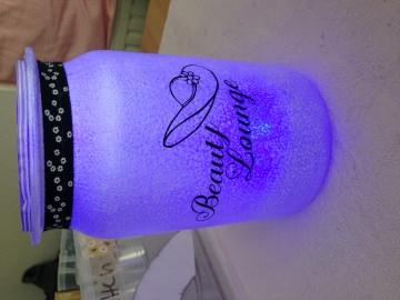 beleuchtetes Glas