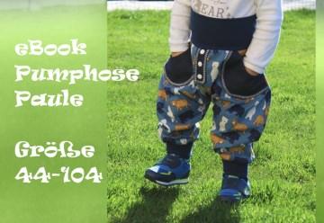 eBook Pumphose Paule Schnittmuster Gr. 44-104 Nähanleitung und Schnittmuster