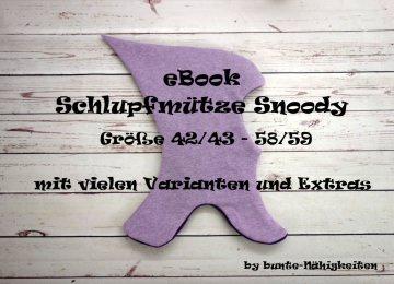 eBook Schlupfmütze Snoody Gr. 42/43-58/59 Nähanleitung und Schnittmuster