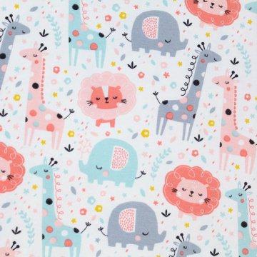 BIO Jersey Baby-Tiere rosa