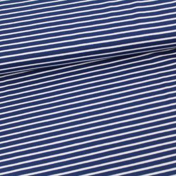 BIO Jersey Streifen blau weiß
