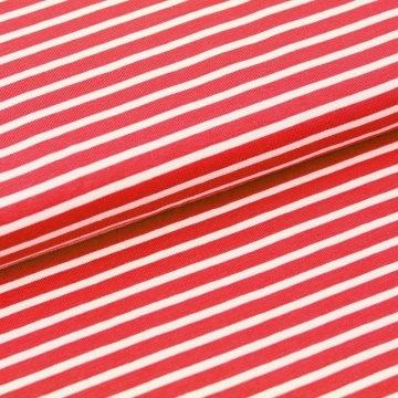 BIO Jersey Streifen rot weiß