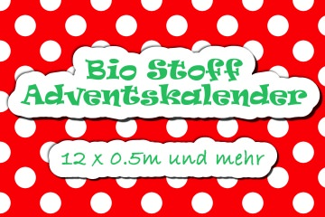 Bio Stoff Adventskalender 12 x 0,5m VORBESTELLUNG