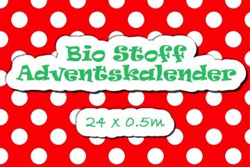 Bio Stoff Adventskalender 24 x 0,5m VORBESTELLUNG