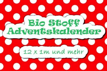 Bio Stoff Adventskalender 12 x 1m VORBESTELLUNG
