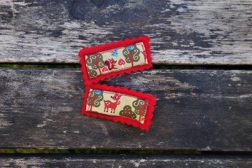2 Haarspangen Waldtiere ☀ Reh ☀ Eichhörnchen ☀ Haarklammern für Mädchen
