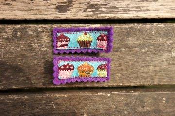 2 Haarspangen Muffins ☀ Haarklammern für Mädchen