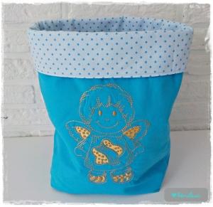 ♡ Geschenkesack aus Baumwolle mit Stickerei Engel ♡