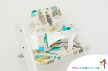 Sitzkissen für den Stokke Tripp Trapp, Hochstuhlkissen, Kissenset, Sitzverkleinerer