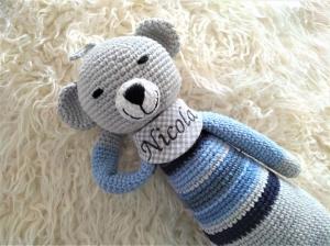 Geschenk zur Geburt für Jungen/ Spieluhr mit Namen personalisiert Melodie: LaLeLu