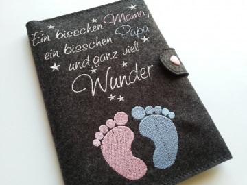 ♥♥ Mutterpasshülle aus Filz ♥♥ Ein bisschen Mama ein bisschen Papa