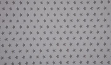 Baumwolle Popeline Sterne hellgrau/grau