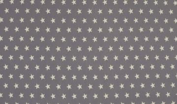 Baumwolle Popeline Sterne grau/weiß