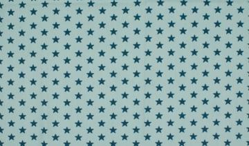 Jersey Sterne hellblau/dunkel petrol