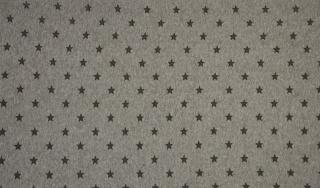 Bündchen Sterne dunkel grau meliert