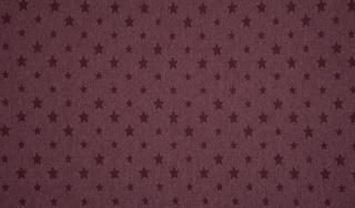 Bündchen Sterne bordeaux meliert