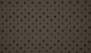 Bündchen Sterne dunkel braun Farbe meliert