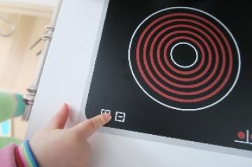 Aufkleber Sticker Kochfeld Herdplatten Ceranfeld für Spielküche Kinderküche