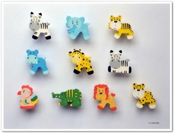 Handgefertigte Möbelgriffe für Kinder  ♡  Afrika Tiere  ♡