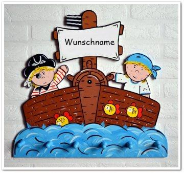 Piratenschiff ♡ Handgefertigte Kindergarderobe
