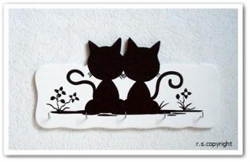 Schlüsselbrett Katzen