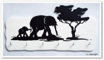 Schlüsselbrett  Elefanten  Afrika