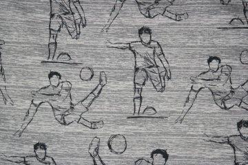 Jersey Fußball, Football Star,graumeliert 0,5  m/150 cm