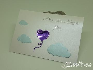 Trauerkarte für ein verstorbenes Kind / Sternenkind Luftballon