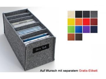 Regalkorb aus Filz für CDs in vielen Farben lieferbar
