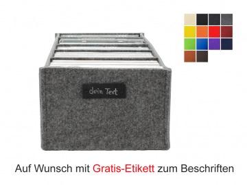 Regalkorb aus Filz für DVDs - Querformat - in vielen Farben lieferbar