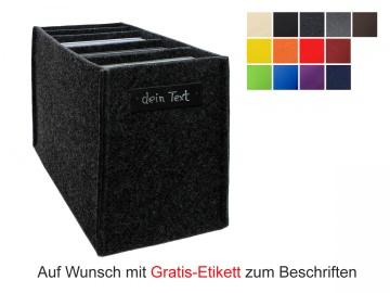 Regalkorb aus Filz für DVDs - Hochformat - in vielen Farben lieferbar
