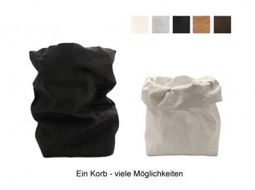Körbchen / Utensilo / Korb aus veganem Leder in verschiedenen Farben lieferbar - 18x18x31cm